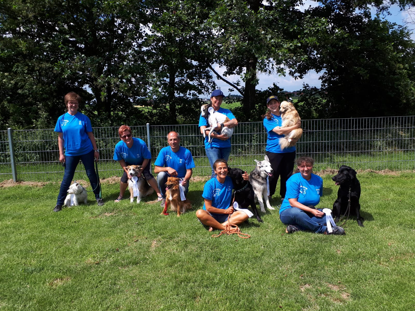 Hundeschule Waldstetten beim Rally Obedience Turnier in Langenau