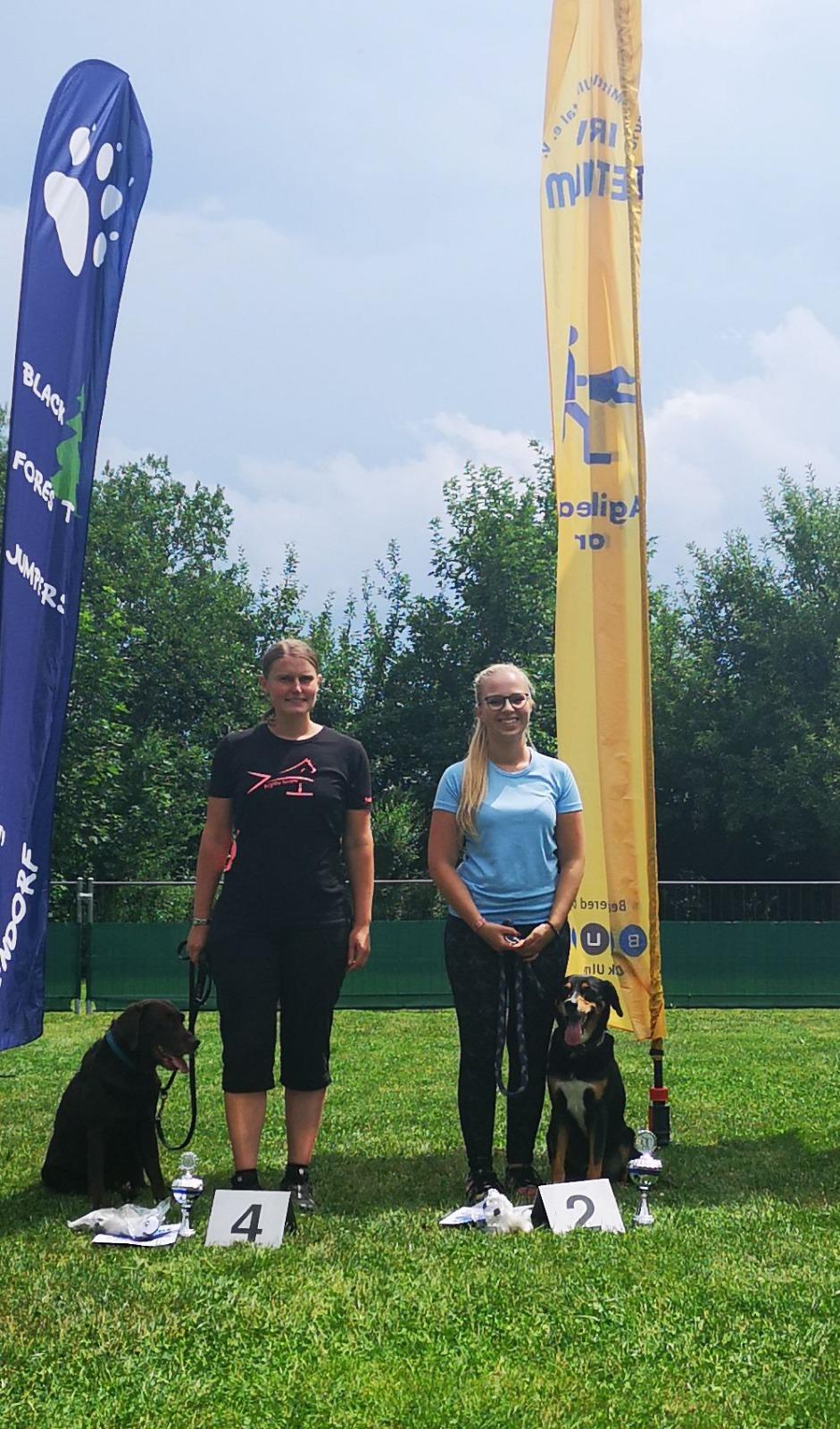 Agility Teilnehmer der Hundeschule Waldstetten